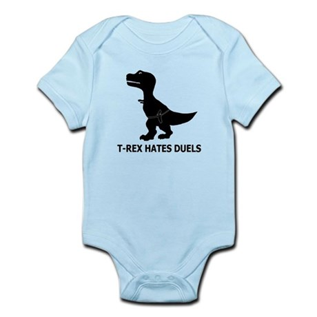 T-Rex Hates Duels Infant Bodysuit