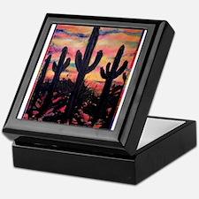 Desert, southwest art! Saguaro cactus! Keepsake Bo