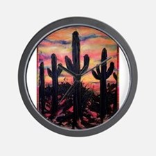 Desert, southwest art! Saguaro cactus! Wall Clock