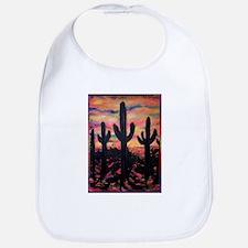 Desert, southwest art! Saguaro cactus! Bib