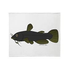 Bullhead Catfish Throw Blanket