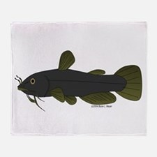 Bullhead Catfish Throw Blanket