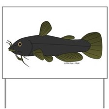 Bullhead Catfish Yard Sign