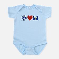 Peace Love Oregon Infant Bodysuit