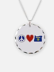 Peace Love Oregon Necklace