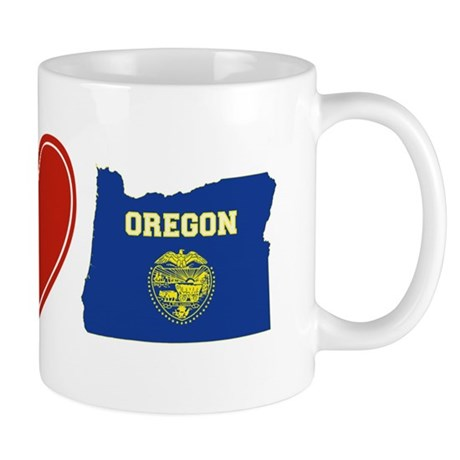 Peace Love Oregon Mug
