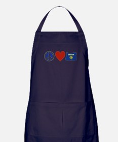 Peace Love Oregon Apron (dark)