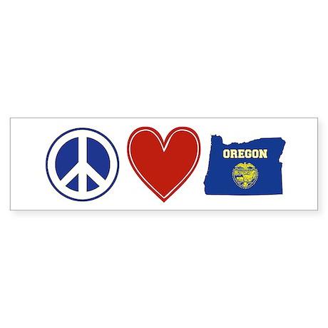 Peace Love Oregon Sticker (Bumper 10 pk)