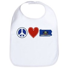 Peace Love Pennsylvania Bib
