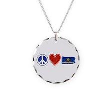 Peace Love Pennsylvania Necklace Circle Charm