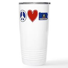 Peace Love Pennsylvania Travel Mug