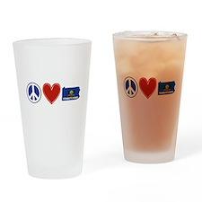 Peace Love Pennsylvania Drinking Glass