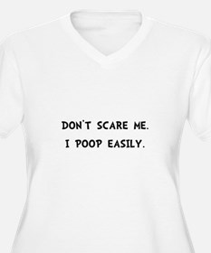 Scare Poop Plus Size T-Shirt