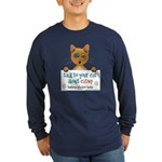 Talk to Your Cat About Catnip Long Sleeve Dark T-S