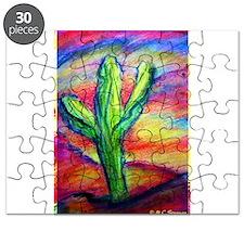 Saguaro Cactus, Southwest art! Puzzle