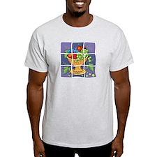 Dellarobbia Tile Mural Ash Grey T-Shirt