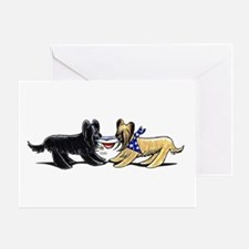 Briard Hat Off-Leash Art™ Greeting Card
