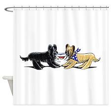Briard Hat Off-Leash Art™ Shower Curtain