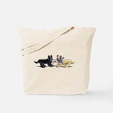 Briard Hat Off-Leash Art™ Tote Bag