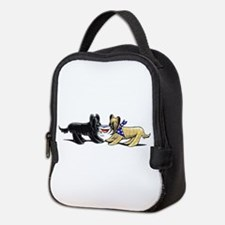 Briard Hat Off-Leash Art™ Neoprene Lunch Bag