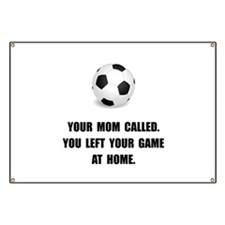 Soccer Game At Home Banner