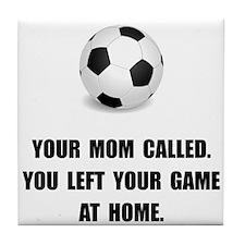 Soccer Game At Home Tile Coaster