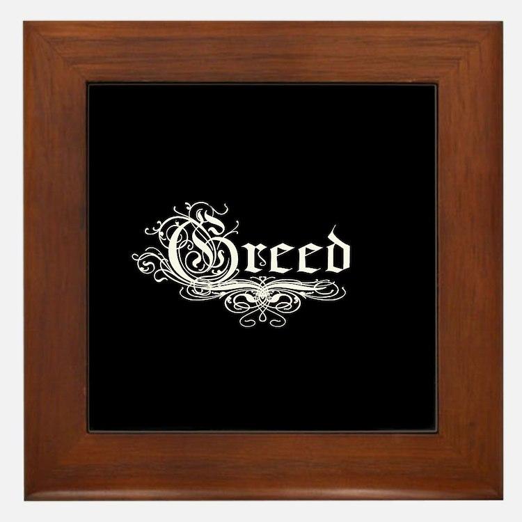 7 Sins Greed Framed Tile