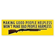 Making People Helpless Bumper Car Sticker