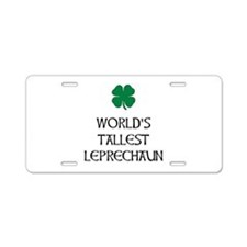 Tallest Leprechaun Aluminum License Plate
