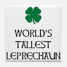Tallest Leprechaun Tile Coaster