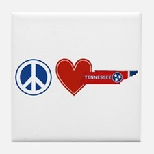 Peace Love Tennessee Tile Coaster