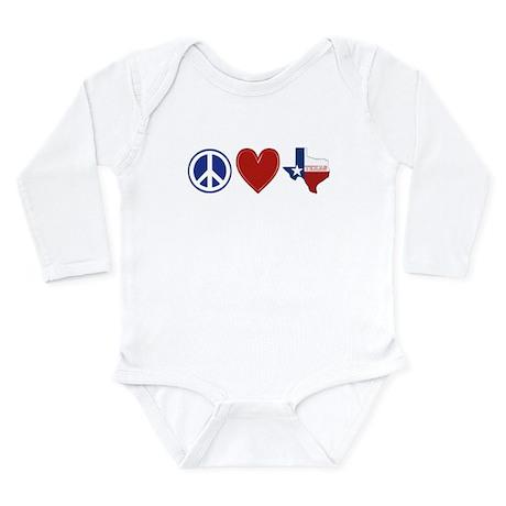 Peace Love Texas Long Sleeve Infant Bodysuit
