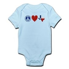 Peace Love Texas Infant Bodysuit