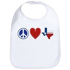 Peace Love Texas Bib