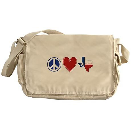 Peace Love Texas Messenger Bag