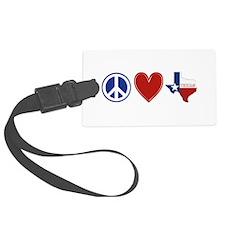 Peace Love Texas Luggage Tag
