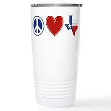 Peace Love Texas Travel Mug