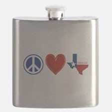 Peace Love Texas Flask