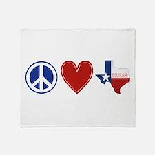 Peace Love Texas Throw Blanket