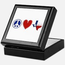 Peace Love Texas Keepsake Box