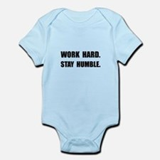 Work Hard Stay Humble Body Suit