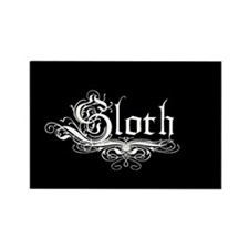 7 Sins Sloth Rectangle Magnet