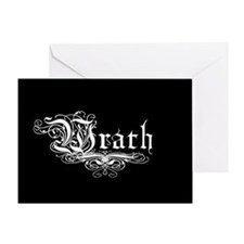 7 SIns Wrath Greeting Card