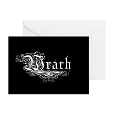 7 SIns Wrath Greeting Cards (Pk of 10)