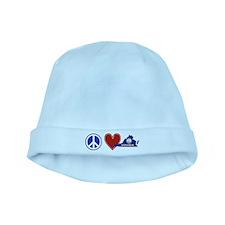 Peace Love Virginia baby hat