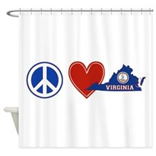 Peace Love Virginia Shower Curtain