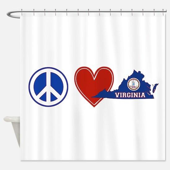 Peace Love Virginia Shower Curtain