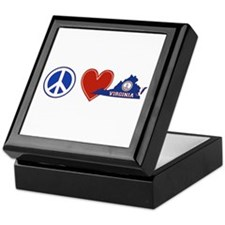 Peace Love Virginia Keepsake Box
