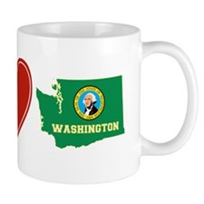 Peace Love Washington Small Mug