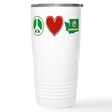 Peace Love Washington Thermos Mug